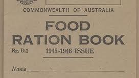 World War II food rationing book