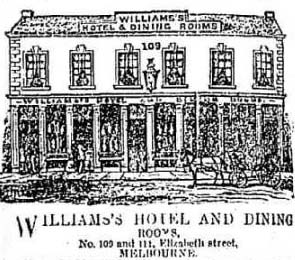 Williams's Hotel offered a one shilling counter lunch
